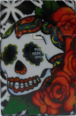 Eclipse Skull Design Hard Plastic Crushproof Cigarette Case, Kings, 2ct