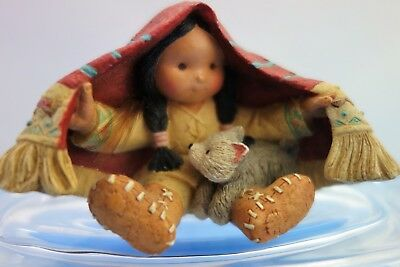Friends of the Feather Enesco Brothers of the Earth 115681 Boy with Wolf Cub
