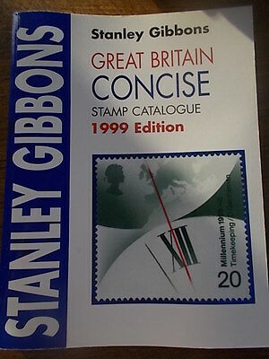 Stanley Gibbons Great Britain Concise Stamp Catalogue in Colour 1999 Edition VGC