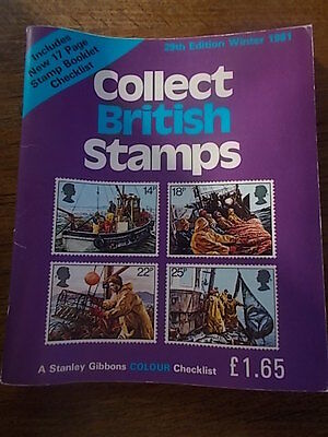 Stanley Gibbons Collect British Stamps Winter 1981 29th Ed Colour Checklist