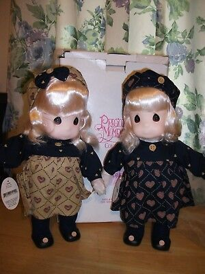 1996 Precious Moments Twins, Liza And Laurie, Qvc Exclusive Doll Collection