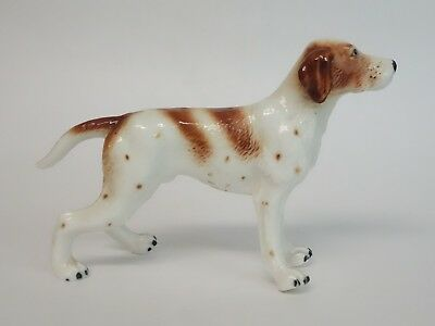 Vintage Pointer Dog Figurine Porcelain Standing Decorative Collectible Animal