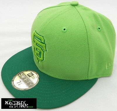 New Era Moncol Mlb 59Fifty Fitted Cap - San Francisco Giants - Lime/kelly Green