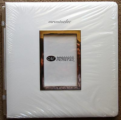 Creative Memories White Leather Like Original 12x12 album coverset with Frame
