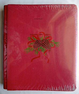 Creative Memories Red Holly Christmas 8x10 Album Coverset BNIP WITH PAGES