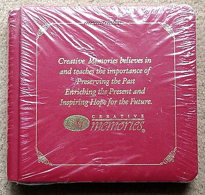 Creative Memories Red 7x7 Album Coverset WITH PAGES - CM Memorabilia