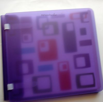Creative Memories Doubledipz 7x7 Album Coverset WITH PAGES Purple / Aqua BNWOP