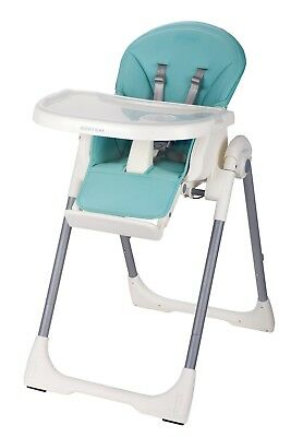 Upgraded brand new leather baby high chair - Blue