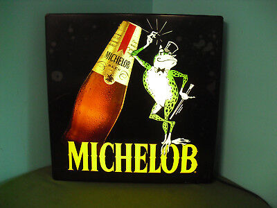 Light Up Hanging Michelob Beer Frog Bar Advertising Sign Vintage Rare Store Ad
