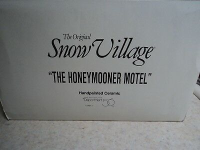 "Dept. 56 Snow Village ""the Honeymooner Motel"" W/box & Light Cord- Buy It Now"