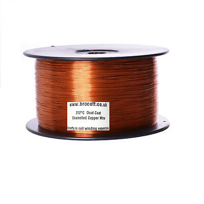 1.32mm ENAMELLED COPPER WINDING WIRE, MAGNET WIRE, COIL WIRE - 2KG Spool
