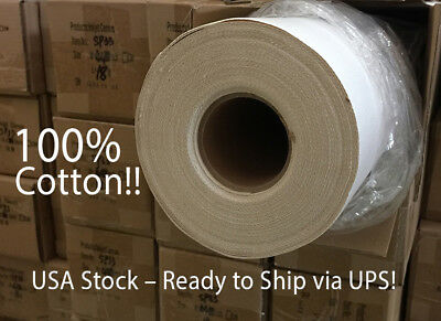 "44"" x 59' Satin 20mil Eco Solvent Canvas USA STOCK 35cents/sq ft. FREE SHIPPING"