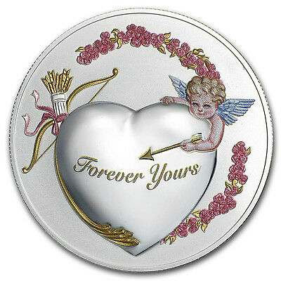 """2016 Niue 1 oz Silver """"Forever Yours"""" Coin Prooflike (PAMP) - SKU #95741"""
