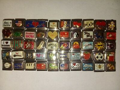 New Assorted lot of  Italian charm mixed 100 Piece lot #K503