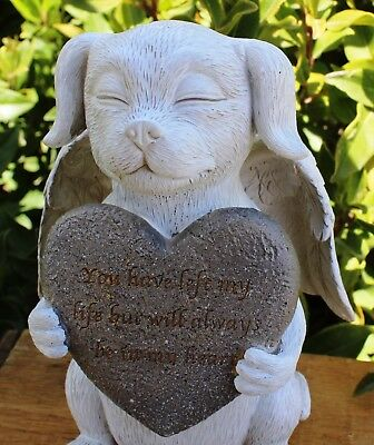 "Dog Puppy Pet Memorial Inspirational Grief In Memory Funeral Garden ""Statue""- B"