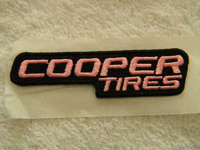 Cooper Tires- embroidered patch, adhesive backing- Pink- PBR - Bull Riding