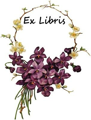 Bookplates - Delicate Circlet of Purple and White Violets