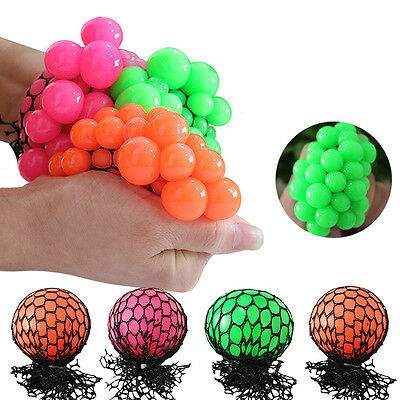 Squishy Mesh Ball Squeeze Anti-stress Reliever Healthy Vent Toy Xmas;,