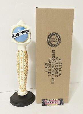 "Blue Moon Brewing Mango Wheat Ale Beer Tap Handle 11.75"" Tall - Brand New In Box"