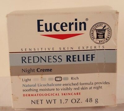 Eucerin Redness Relief Night Creme 1.7 oz Licochalcone enriched formula