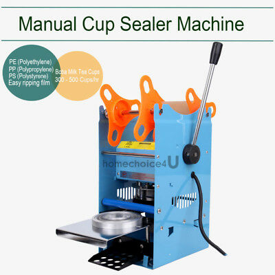 270W 110V Electric Automatic Plastic Tea Cup Sealer Sealing Machine 300Cups/h