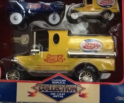 Pepsi-Cola Replica 3 Piece Die Cast Metal Collection* Bank, Mini Truck,plane