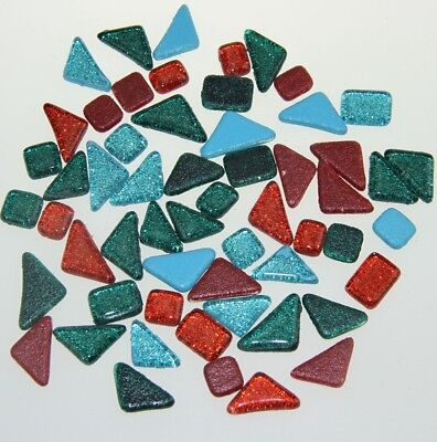 100g Colorful Glitter Shiny Glass Mosaic Tiles Material For DIY Wall Art Craft
