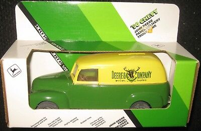 John Deere 50 Chevy Panel Delivery Diecast Truck Bank, 1/25 scale MADE IN USA.
