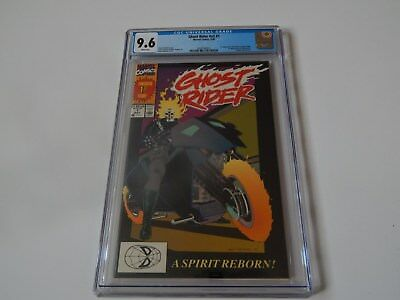 GHOST RIDER #1 1990  CGC 9.6 NM+ (1st App. of Dan Ketch ; White Pages)