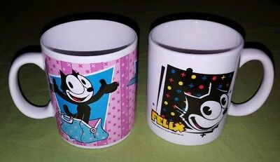 Felix the Cat Coffee Cup Mug Lot of 2