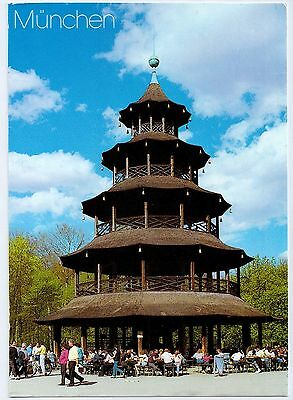 C0300aps Germany Munich Chinese Pagoda postcard