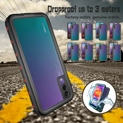 For Huawei P20 Pro/Plus Waterproof Shockproof Dirtproof Hard Clear Case Cover