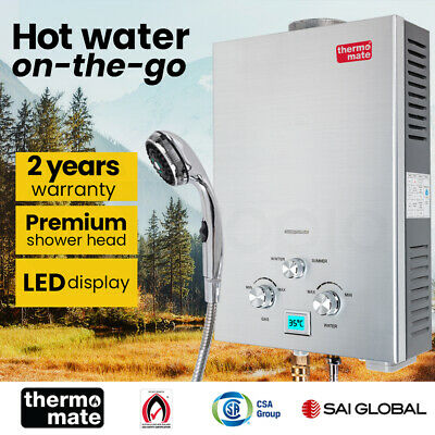 【UP TO 20%OFF】Thermomate Outdoor Water Heater Gas Camping Portable Tankless