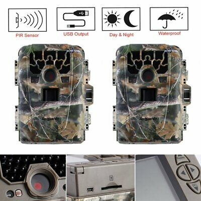 2PACK  Hunting Trail Game Camera 12MP 1080P IR Night Vision 75ft Flash Range UR