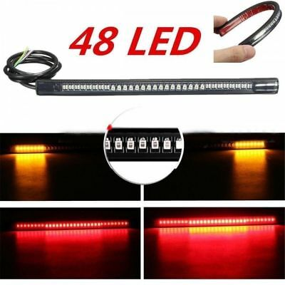 Moto 48 LED Light Strip Coda posteriore Freno Stop Indicatore di direzione IT