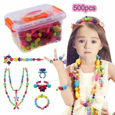 Pop Snap Beads Set Creative DIY Jewelry Making Kit for Girls Gift Toys-500 Pcs