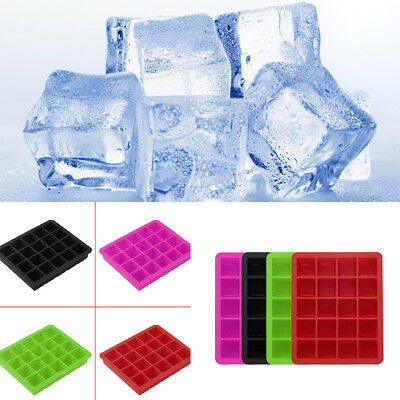 20-Cavity Large Cube Ice Pudding Jelly Maker Mold Mould Tray Silicone Tool  RH