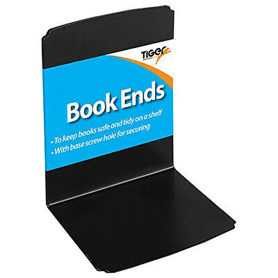 Heavy Duty Metal Book Ends Shelf Bookends Home Office School - 1 Pack of 4