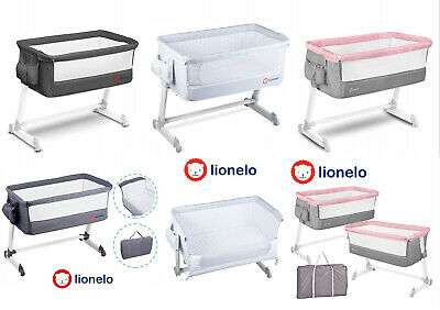 Baby Bedside Crib Portable Foldable Travel Cot Mattress Mosquitonet Theo Lionelo
