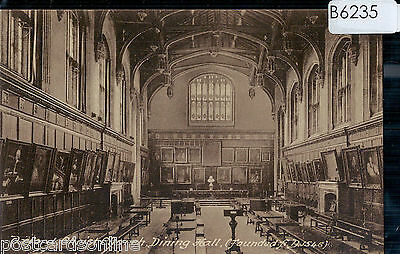 B6235cgt UK Oxford Christ Church Dining Hall Friths vintage postcard