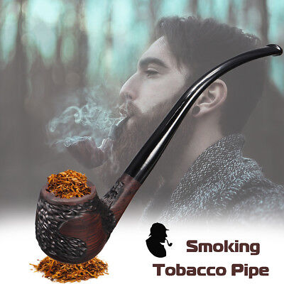 Ebony Wooden Man High-ended Smoking Pipe Tobacco Cigarettes Cigar Pipes Gift