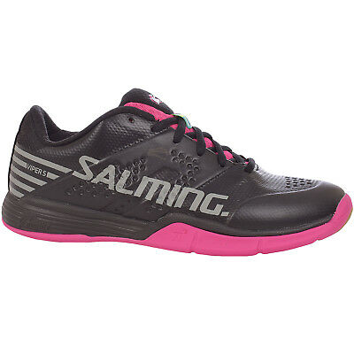 Salming Womens Viper 5 Indoor Sports Training Shoes Trainers - Black/Pink