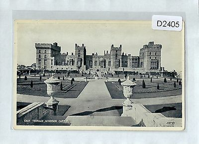 D2405cgt UK Windsor Castle East Terrace c1954 vintage postcard