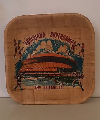 New Orleans Louisiana Superdome Bamboo Serving Tray