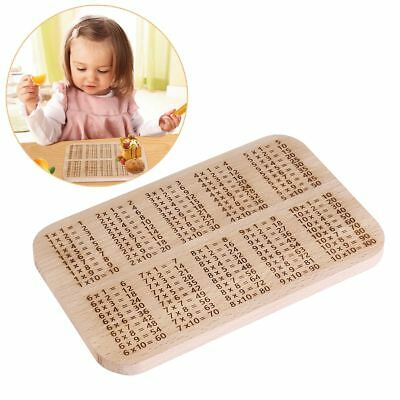 OUNONA Multiplication Educational Times Tables Beech Wood Breakfast Board Chart