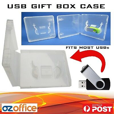 PREMIUM USB Case - USB Drive Gift Box - Clear Case 16mm Spine for Paper Covers