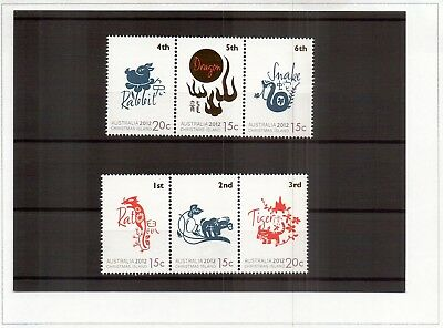 M0543sbs Australia Christmas Island 2012 Year of Dragon MUH stamps