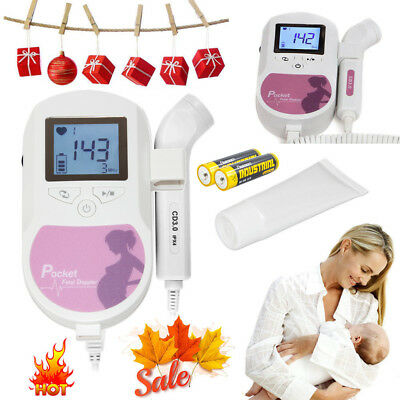 FDA US Handheld Pocket Fetal Doppler Pregnancy Baby Heart Monitor 3MHZ probe,Gel
