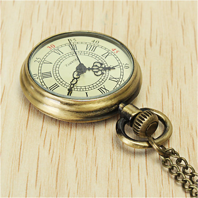 Vintage Watch Antique Old Style W/ Chain Classic Accessory Free Shipping