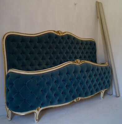 A Very Rare French Corbeille Super Kingsize Bed Frame with New Mattress